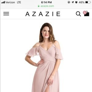 Size 2 dusty rose bridesmaid dress from azazie